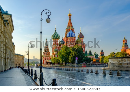the cathedral of vasily the blessed moscow russia stock photo © nobilior
