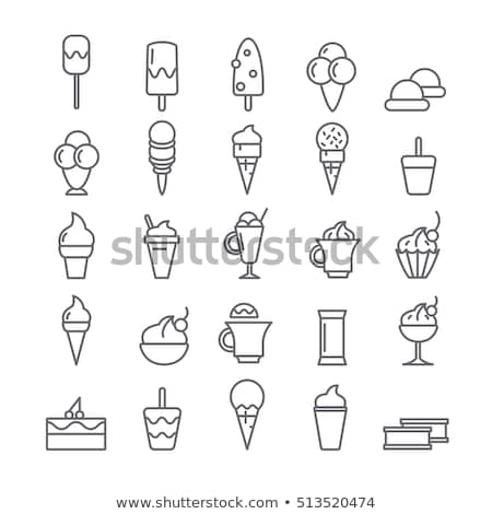 Ice-cream chocolate vanilla ice on wands vector Stock photo © LoopAll