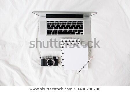 üres · csésze · kortárs · munkahely · pénzügyi · papírok - stock fotó © manera