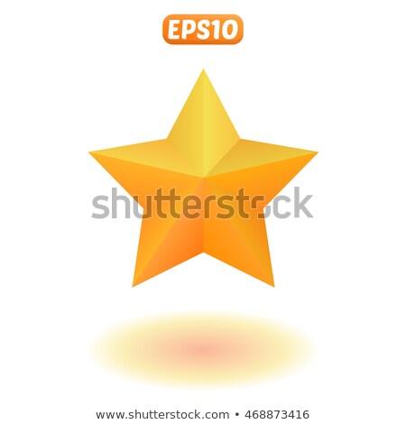 Három vívmány vektor csillagok citromsárga felirat Stock fotó © pikepicture