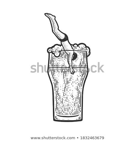 Alkohol Taucher Foto Luxus Flasche bar Stock foto © Fisher