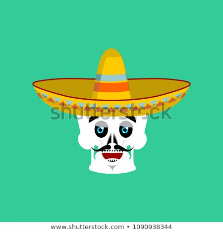 Koponya szombréró boldog mexikói csontváz hagyományos Stock fotó © popaukropa