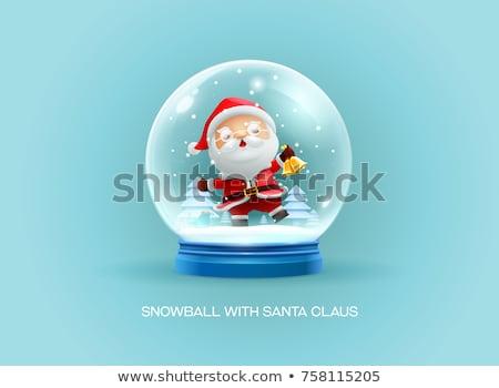 Foto stock: Natal · neve · globo · realista · vetor · bonitinho