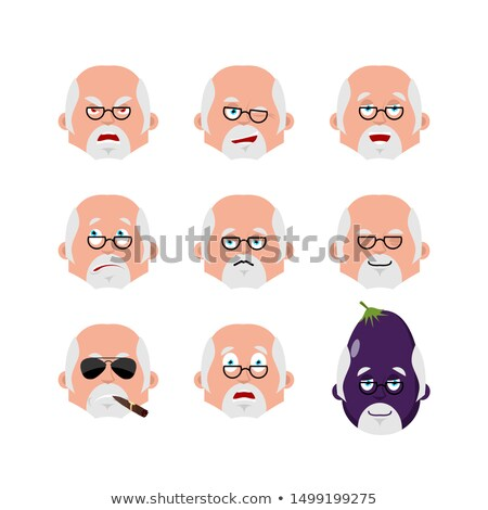 Doctor face set. sleeping and evil emotion avatar. bewildered an Stock photo © popaukropa