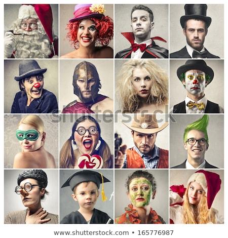 Natal belo sorrindo carnaval máscara moda Foto stock © Victoria_Andreas