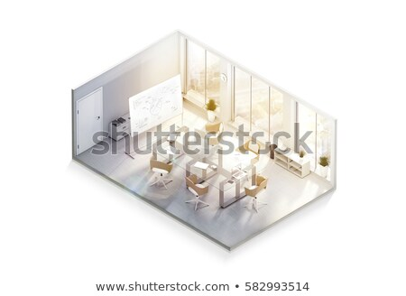 Business Project on Laptop in Conference Room. 3d Rendering. Stock photo © tashatuvango