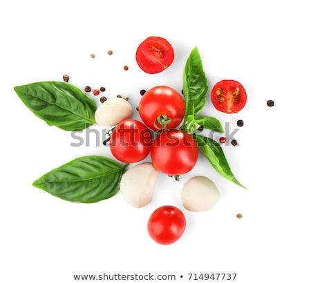 cherry tomato,basil and mozzarella Stock photo © M-studio