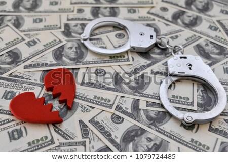 Dinheiro algemas crime conflito ilustração par Foto stock © lenm