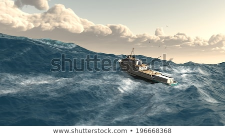 Rogue Wave on Ship Stock photo © blamb