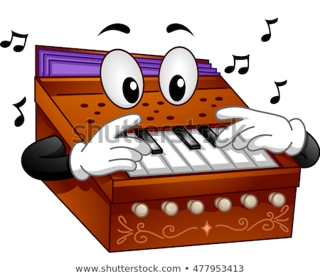 Mascotte instrument de musique illustration jouer note art Photo stock © lenm