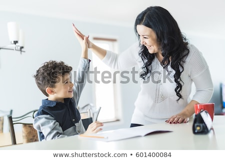 Mother encouraging Child Stock photo © IS2
