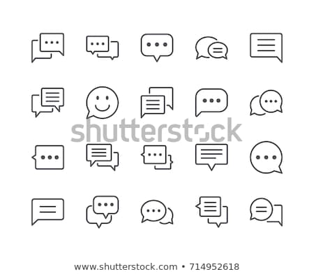 debat · dialoog · discussie · symbool · dun - stockfoto © anna_leni