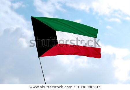 Koeweit lint vlag blauwe hemel reizen golf Stockfoto © doomko