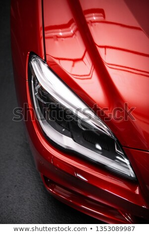 red car model on a white background closeup Stock photo © mizar_21984