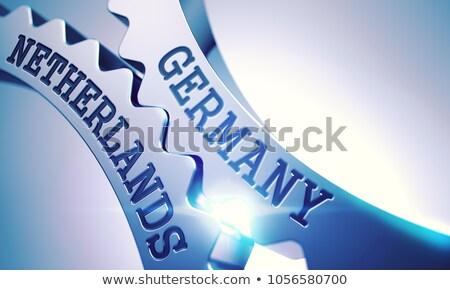 Niemcy Niderlandy mechanizm błyszczący metal kółko Zdjęcia stock © tashatuvango
