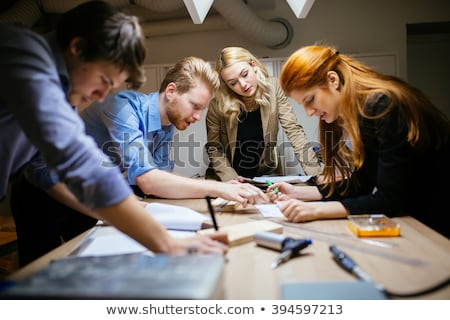 Professionele mannelijke business ingenieurs werken bespreken Stockfoto © FrameAngel