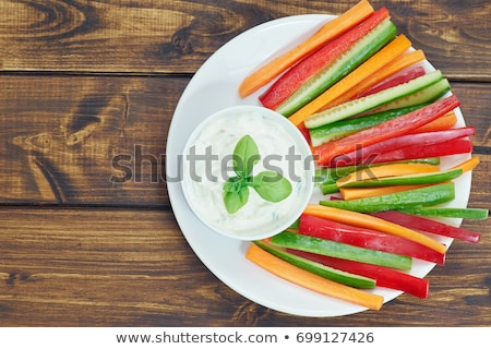 vegetable stick and sauce stock photo © m-studio
