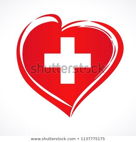 Coeur pavillon Suisse grunge 3d illustration amour Photo stock © MikhailMishchenko