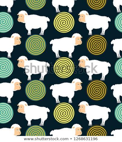 schapen · symbool · slapeloosheid · gebrek · slaap · vallen - stockfoto © popaukropa