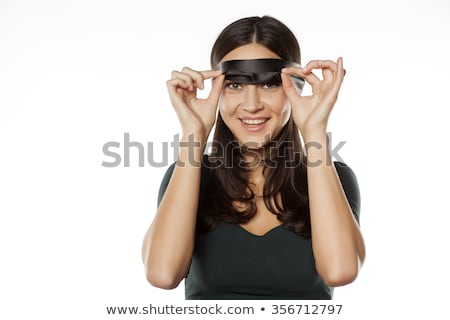 女性 目隠し 笑顔の女性 笑みを浮かべて 肖像 驚き ストックフォト © IS2