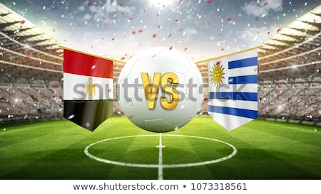 Futball gyufa Egyiptom vs Uruguay futball Stock fotó © Zerbor