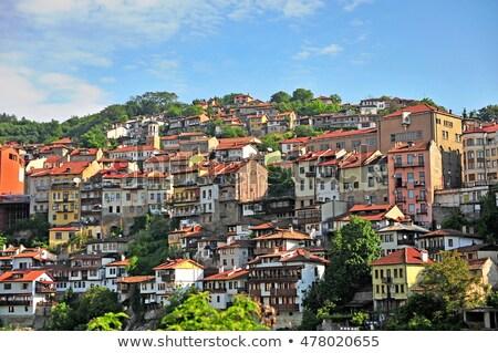Cidade velha rua casas ver Bulgária tradicional Foto stock © travelphotography