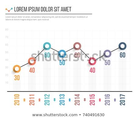 Wykres line szablony działalności infografiki odizolowany Zdjęcia stock © kyryloff