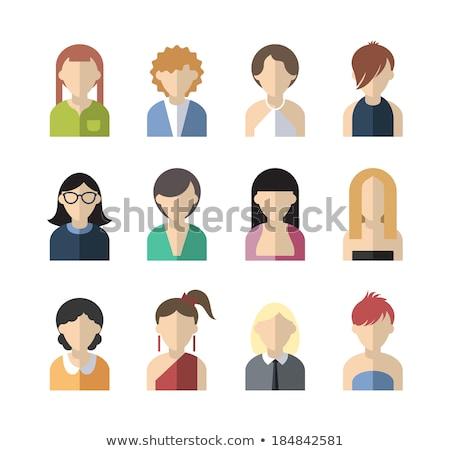 Сток-фото: Twelve Characters Of Flat Design