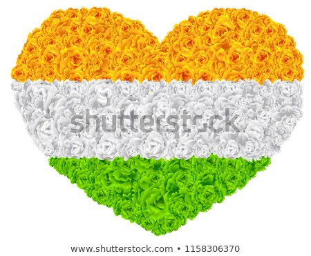 Flag India shape of heart flower garland mala Stock photo © orensila