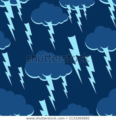 Bulut yıldırım model sağanak fırtına Stok fotoğraf © MaryValery