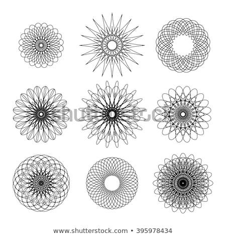 Establecer nueve negro blanco aislado resumen Foto stock © Evgeny89