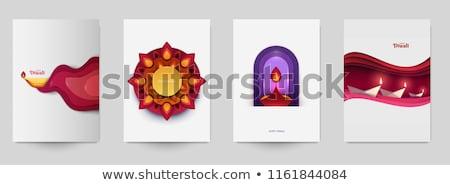 beautiful diwali decorative diya background Stock photo © SArts