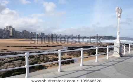 Plaży Hiszpania wiosną miasta ulicy tle Zdjęcia stock © lunamarina