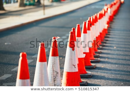 traffic signs indicating road works stock photo © monkey_business