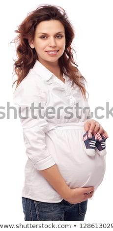 женщину белый чулки блузка сидят Председатель Сток-фото © acidgrey