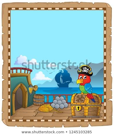 pirata · navio · convés · arte · oceano · retro - foto stock © clairev