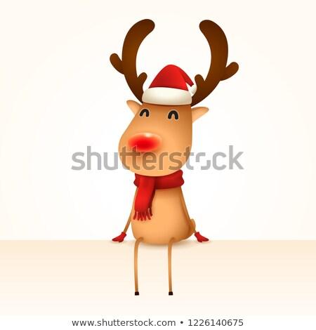 Renifer krawędź odizolowany hat cartoon cap Zdjęcia stock © ori-artiste