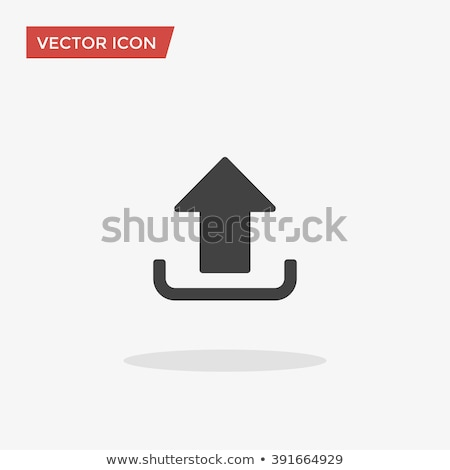 folder icon with upload arrow in trendy flat style isolated on white background for your web site d stock photo © kyryloff