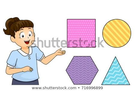 Kid Girl Identify Shapes Illustration Stock photo © lenm