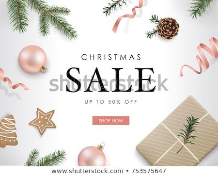 Foto stock: Natal · ouro · rosa · ornamento · traçado · cartão