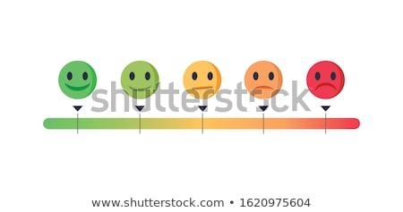 Feedback emoticon scale banners.  Stock photo © kali