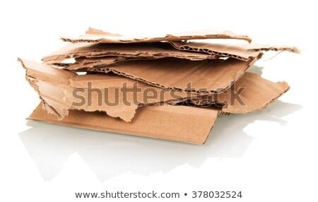 Desgarrado cartón marrón aire libre cubierto suciedad Foto stock © sarahdoow