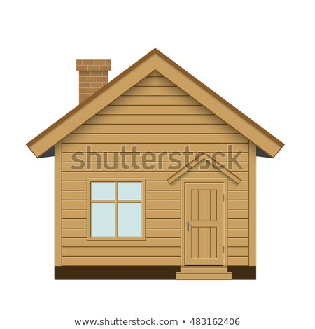 detail of a wooden cabin roof stock photo © lunamarina
