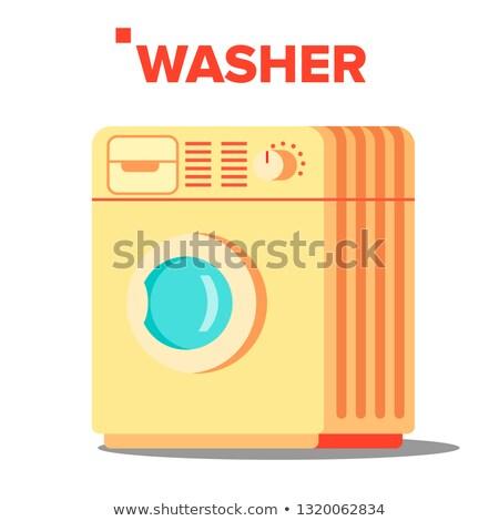 Alátét vektor klasszikus otthon mosás izolált Stock fotó © pikepicture