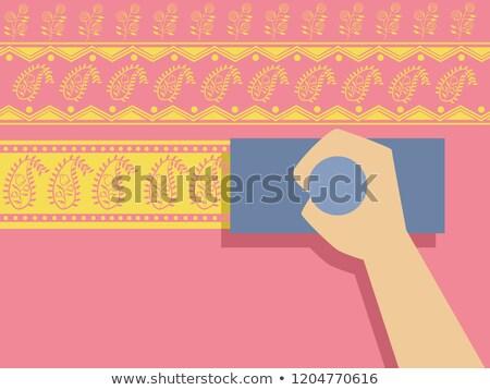 Hand Bagh Printing Illustration Stock photo © lenm