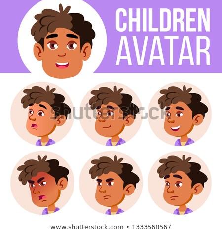 Árabe muçulmano menino avatar conjunto criança Foto stock © pikepicture