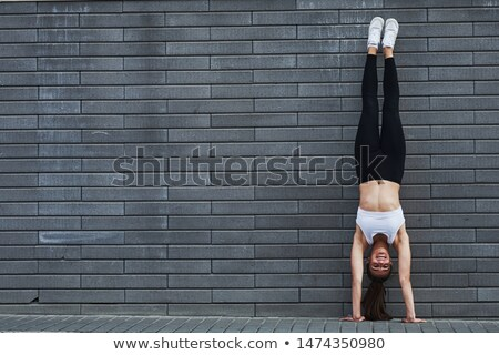 девушки один стойка на руках иллюстрация Dance ребенка Сток-фото © colematt