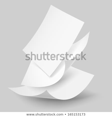 Falling paper sheets with curved corners. Paperwork. Vector Stock photo © Andrei_