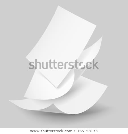 queda · papel · papelada · vetor · meio-tom - foto stock © Andrei_