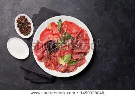Stock fotó: Marbled beef carpaccio
